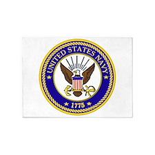 US Navy Emblem 5'X7'area Rug
