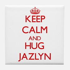 Keep Calm and Hug Jazlyn Tile Coaster