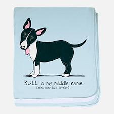 Bull Terrier Name baby blanket