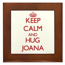 Keep Calm and Hug Joana Framed Tile