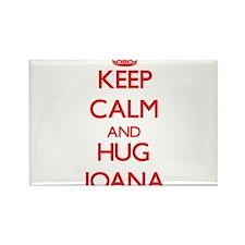 Keep Calm and Hug Joana Magnets