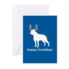 "Boston Terrier ""Happy Howlida Greeting Cards (Pack"