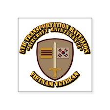 Army - 5th Transportation Battalion Square Sticker