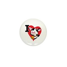 I Love Cows Mini Button (100 pack)