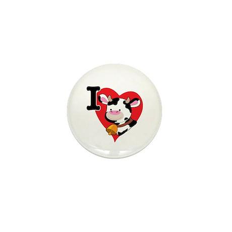 I Love Cows Mini Button