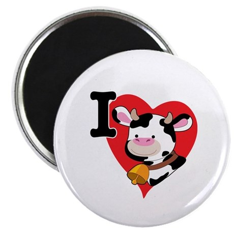 I Love Cows Magnet