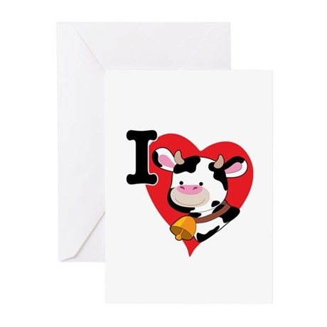 I Love Cows Greeting Cards (Pk of 10)