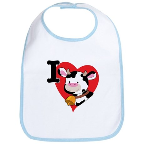 I Love Cows Bib