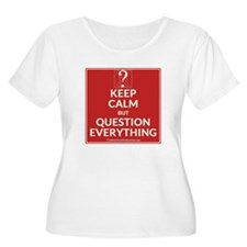 Keep Calm But Question Everything (Red) Plus Size