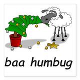 Bah humbug sheep Square Car Magnets