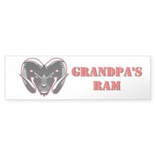 Grandpa's Ram Window Bumper Sticker