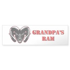 Grandpa's Ram Window Bumper Sticker
