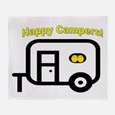 Happy Campers! Throw Blanket