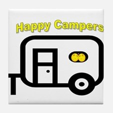 Happy Campers! Tile Coaster