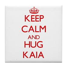 Keep Calm and Hug Kaia Tile Coaster