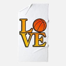 basketball love Beach Towel