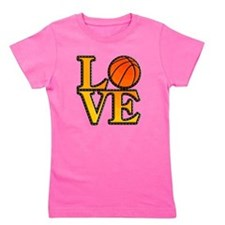 basketball love Girl's Tee