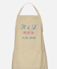 Personalized initials dates Apron