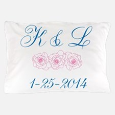Personalized initials dates Pillow Case