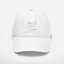 Personalized initials dates Baseball Baseball Baseball Cap