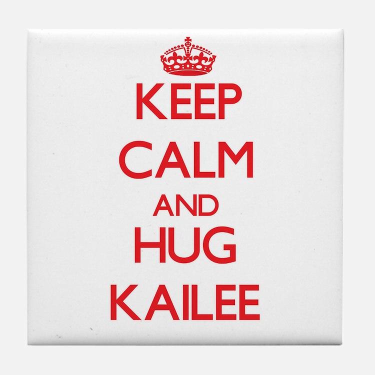 Keep Calm and Hug Kailee Tile Coaster