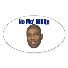 No Mo' Willie Oval Decal