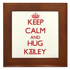 Keep Calm and Hug Kailey Framed Tile