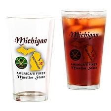 MICHIGAN'S FUTURE Drinking Glass