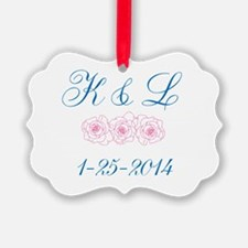 Personalized initials dates Ornament