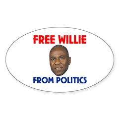 Free Willie From Politics Oval Decal