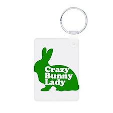 Crazy Bunny Lady Keychains