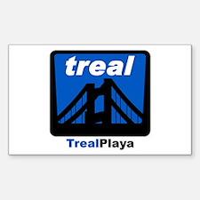 Treal Playa Rectangle Decal