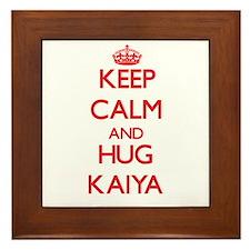 Keep Calm and Hug Kaiya Framed Tile