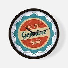 Retro Genuine Quality Since 1982 Wall Clock