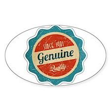 Retro Genuine Quality Since 1981 Decal