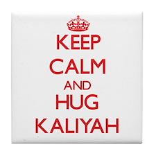 Keep Calm and Hug Kaliyah Tile Coaster
