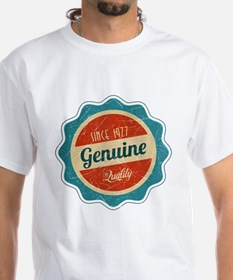 Retro Genuine Quality Since 1977 Label Shirt