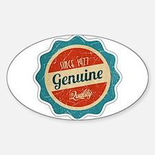 Retro Genuine Quality Since 1977 Decal