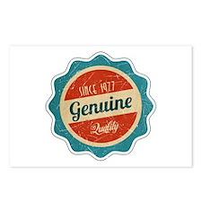 Retro Genuine Quality Since 1977 Postcards (Packag