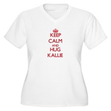 Keep Calm and Hug Kallie Plus Size T-Shirt