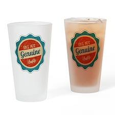 Retro Genuine Quality Since 1976 Drinking Glass