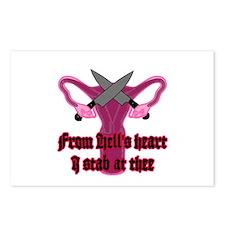 Cute Uterus Postcards (Package of 8)