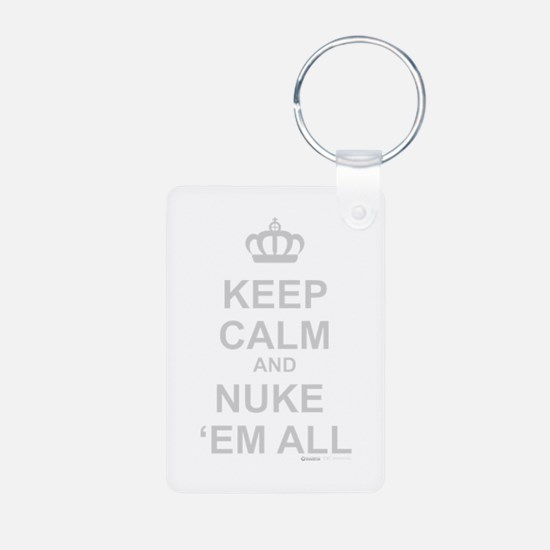 Cute Keep calm carry on Keychains