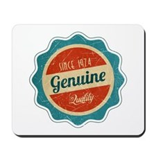 Retro Genuine Quality Since 1974 Mousepad