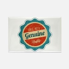 Retro Genuine Quality Since 1973 Rectangle Magnet