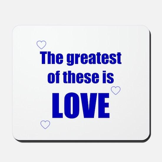 BLUE LOVE Mousepad