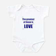 BLUE LOVE Infant Bodysuit