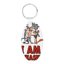 I Am Weasel Friends Keychains