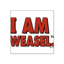 "I Am Weasel Logo Square Sticker 3"" x 3"""
