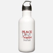 Senior Optional Text Water Bottle